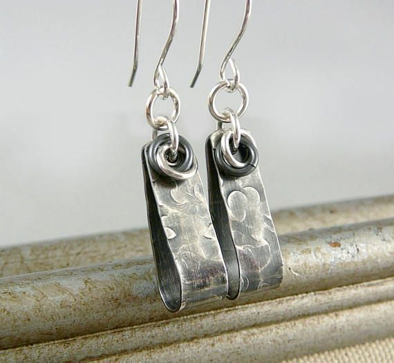 Industrial Earrings Silver Dangle Earrings Sterling Silver