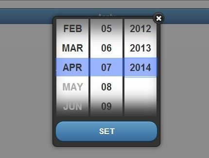 mobile508datepicker is a jQuery & jQuery mobile plugin which allows you to pick a date (or a date range) in a mobile-friendly and accessible date picker.