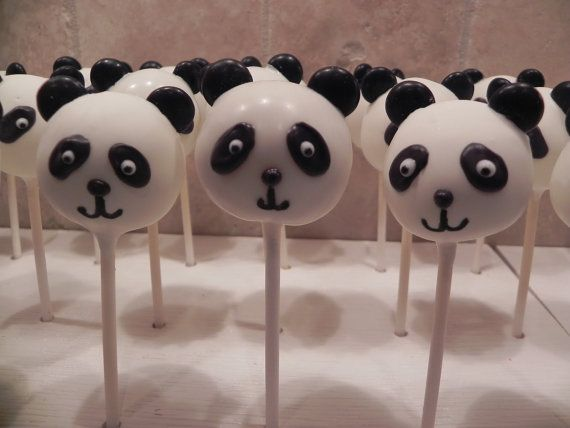 Panda Bear Cake Pops by Gypsysweetart on Etsy, $25.00