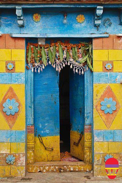 The Lambadis' doors in Andhra Pradesh, India