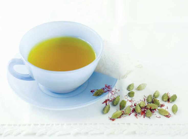 Saffron tea is said to be good for colds, coughs and low spirits, among other things.