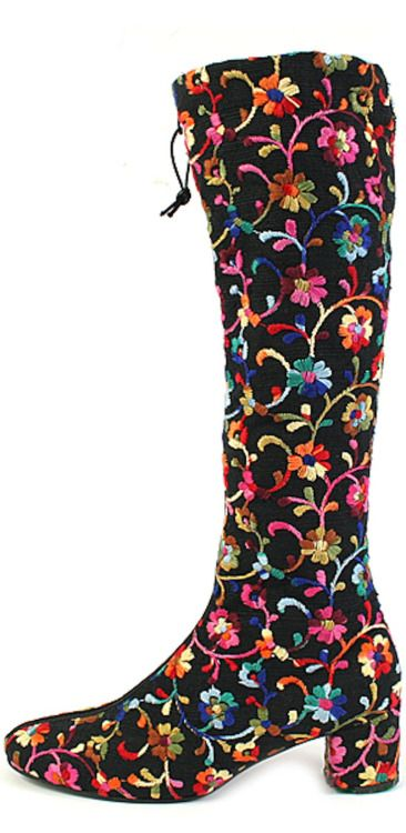 Embroidered Velvet Boots, 1971