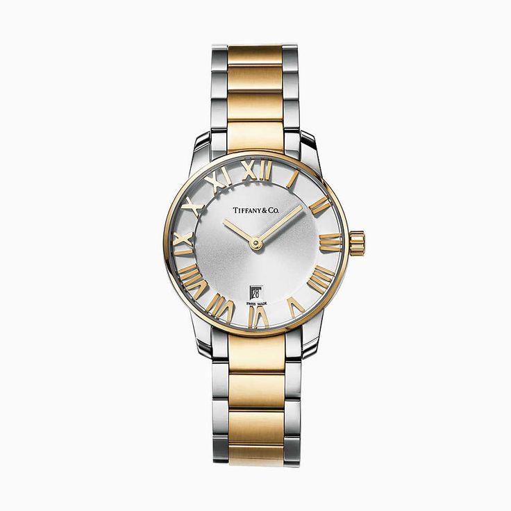 Relógio feminino Atlas™ 2 Ponteiros 29 mm em aço inoxidável. | Tiffany & Co.