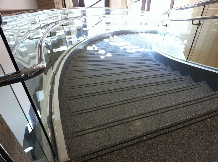 Curved Precast Terrazzo Staircase At The University Of South Carolina  Www.terrazzco.com #
