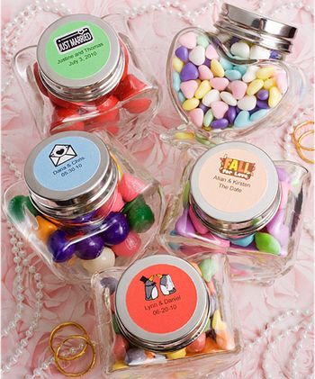 DIY Personalized Heart Glass Jar Favors