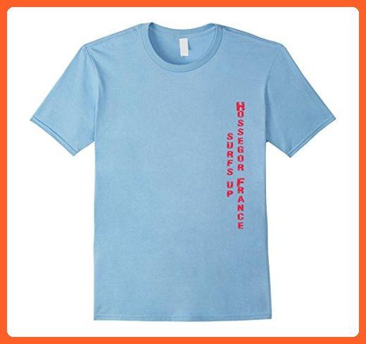 Mens Surf Hossegor, France T Shirt, surfing gear 2XL Baby Blue - Sports shirts (*Partner-Link)