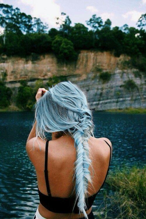 Sky-blue hair color
