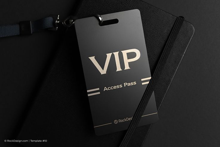 Access pass metal tag business card - VIP |  RockDesign Luxury Business Card Printing