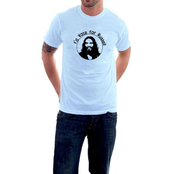 Russell Brand T-shirt. I'd Vote for Russell. Funny by SillyTees