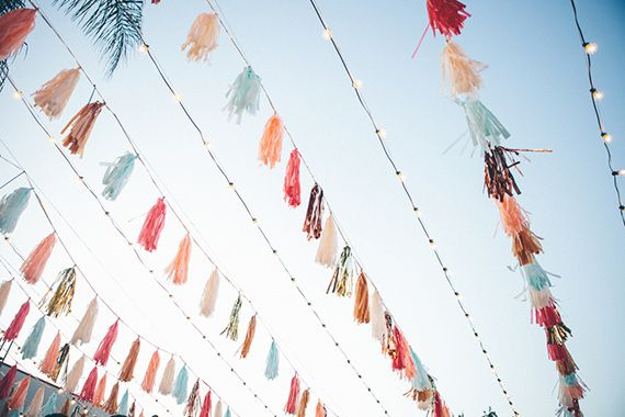 colorful tassel streamers