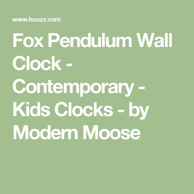 Fox Pendulum Wall Clock - Contemporary - Kids Clocks - by Modern Moose