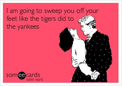 Great pick-up line....NOT FUNNY!!! I can't believe they had a shut out. Not even 1 freaking win. LAME!