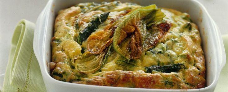 gratin di asparagi e fiori di zucca Sale&Pepe ricetta