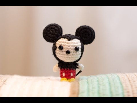 Amigurumi   Como hacer Mickey mouse en crochet   Bibiana Mejia Crochet 2017 - YouTube