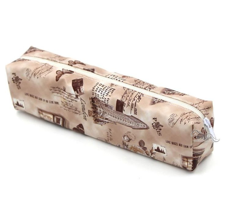 Vintage Rose and Floral Printed Pen Pencil Case European Classic Style Pencil Bag Case Organizer School Stationery Wholesale