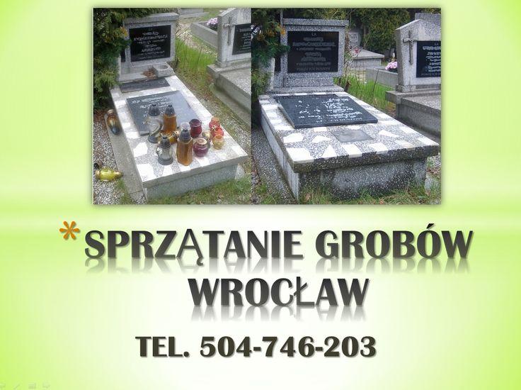 Opieka nad grobami we Wrocławiu, tel 504-746-203. Oczyszczenie grobu - sprzątanie grobu, uprzątnięcie starych zniszczy, usunięcie starych kwiatów, chwastów, uporządkowanie i odchwaszczenie grobu, omiecenie terenu przy nagrobku, podlanie kwiatów i roślina w zimie odśnieżenie.Montaż ławek, malowanie, odnawianie. Pielęgnacja zieleni. tel 504-746-203 Wrocław.