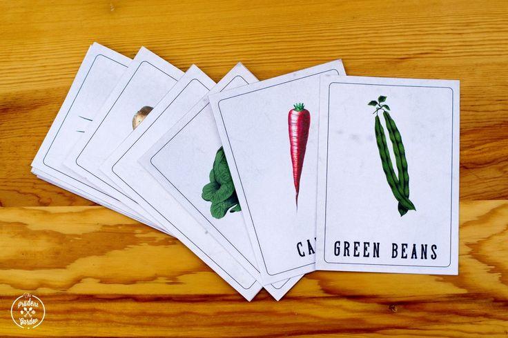 Free Printable Vintage Vegetable Nomenclature Cards