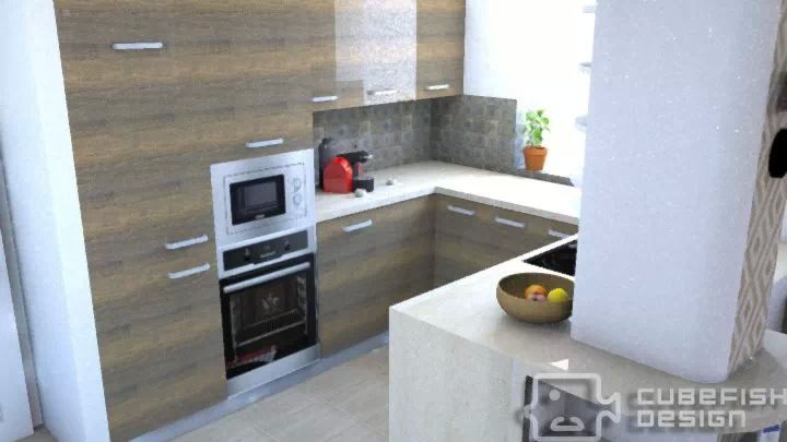 Kitchen plan, Budapest 16.district