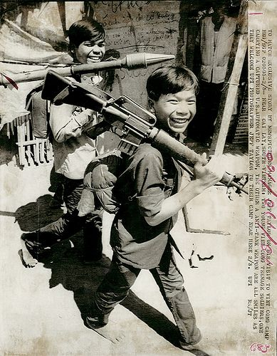 Viet Cong Soldier | 1973 - Two teenage Viet Cong soldiers at camp near Cai Lay, one ...