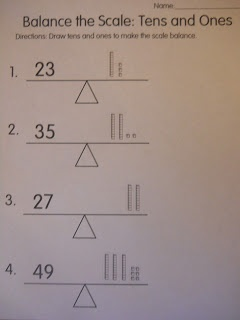 Mrs. Ts First Grade Class: Balance the Scale: Tens and Ones