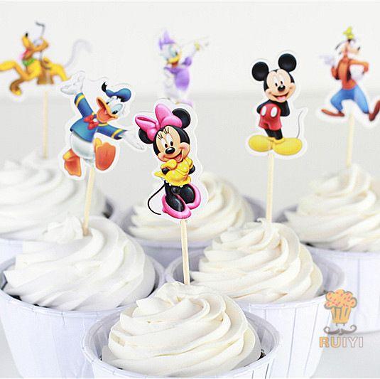 Микки маус и его друзья кекс ботворезы выбирает украшения для детей день рождения ну вечеринку сувениры украшения поставки