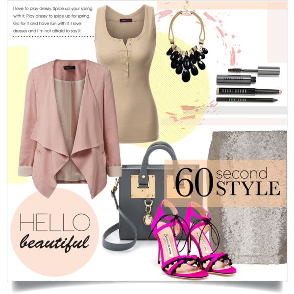 A fashion look from September 2015 featuring Doublju tops, Hallhuber skirts and Manolo Blahnik sandals. Browse and shop related looks.