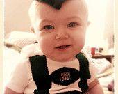 baby lederhosen onesie
