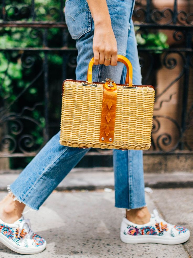 Audrey Picnic Basket | Picnic basket-inspired bag with a refined, structured shape featuring hard shell handles and accents. * Lined inner