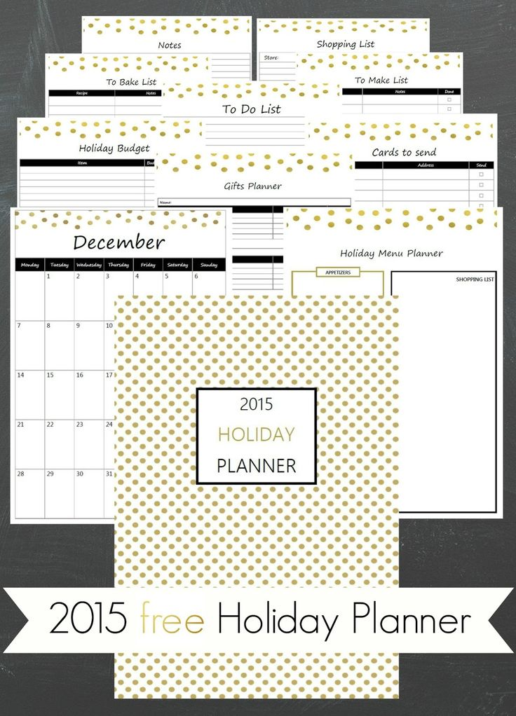 Ioanna's Notebook - Free Printable 2015 Holiday Planner loaded with helpful lists and December calendar