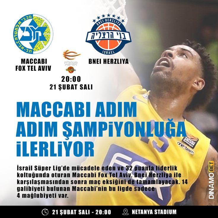 Tel Aviv'de mutlu sona az kaldı. Maccabi yükselişini sürdürüyor. www.dinamobet14.com #dinamobet #maccabifoxtelavıv #bneıherzlıya