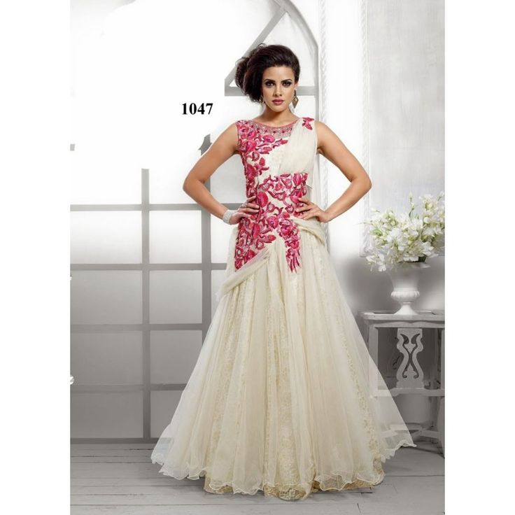 Fabboom Wonderful #Designer Floor Length Off White #Anarkali #Suits #onlineshopping  http://goo.gl/BNQLuD