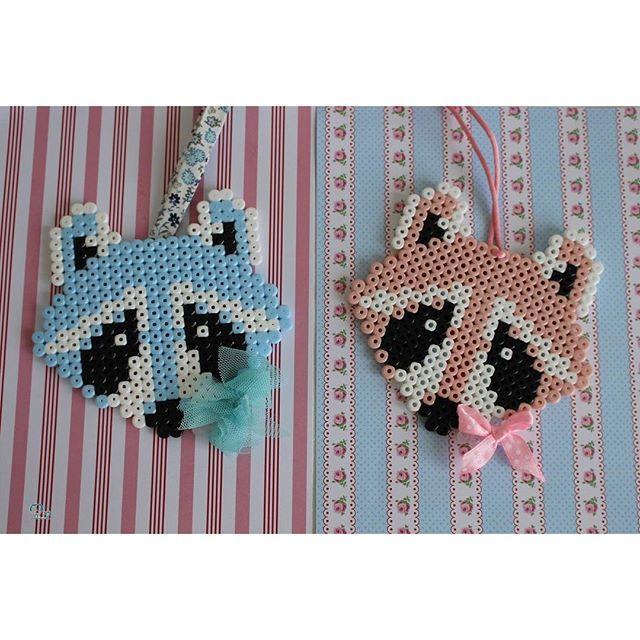 Raccoon hama beads by  caticoud                                                                                                                                                                                 More