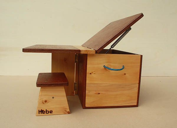 Hebe's ingenious wooden playbox/table is perfect to use as stylish toy storage combined with a kids table.  Available on www.hebe.kiwi.nz