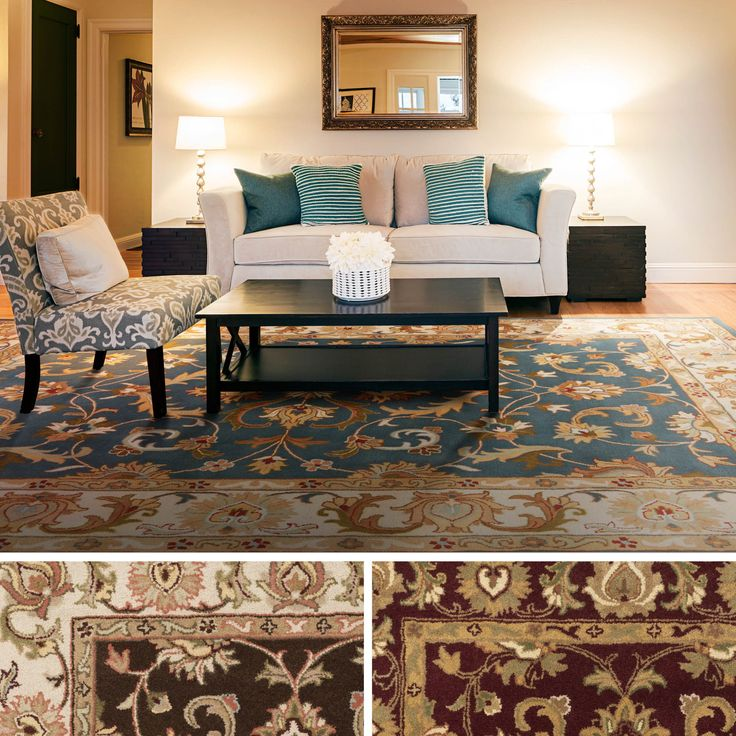 Hand Tufted Wool Transitional Paisley Area Rug Rugs In
