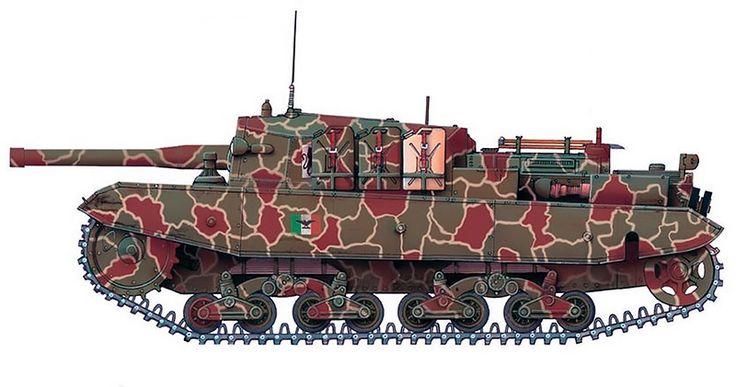 """""""Semovente M43 da 105/25, Squadrone Comando, Gruppo Corazzato 'Leoncello', secteur du lac de Garde, RSI, 1945"""""""