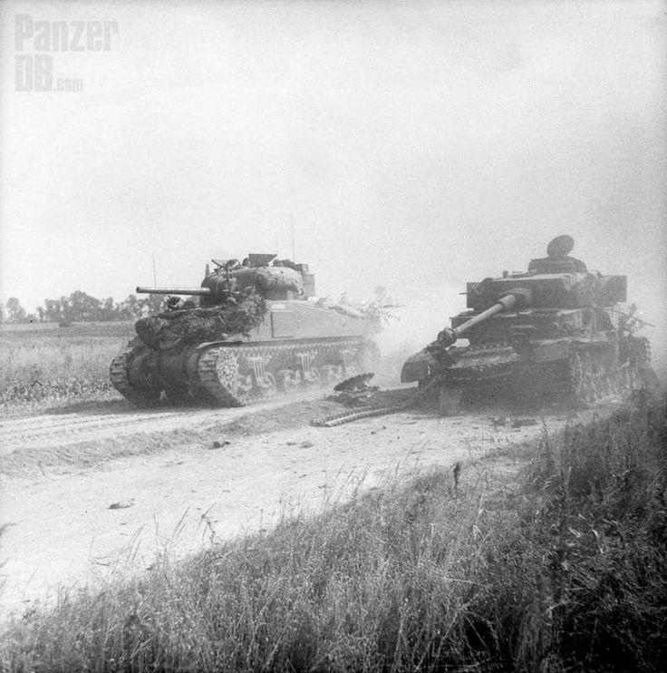 https://flic.kr/p/Fng6dv | Panzerkampfwagen IV (7,5 cm Kw.K. 40 L/48) mit Turmschürzen und Zimmeritbeschichtung (Sd.Kfz. 161/2)  Ausf. H oder J | Cagny area, Normandy, July 18th 1944.