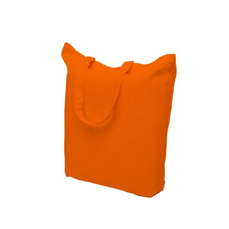 Orange cotton bags with short handle