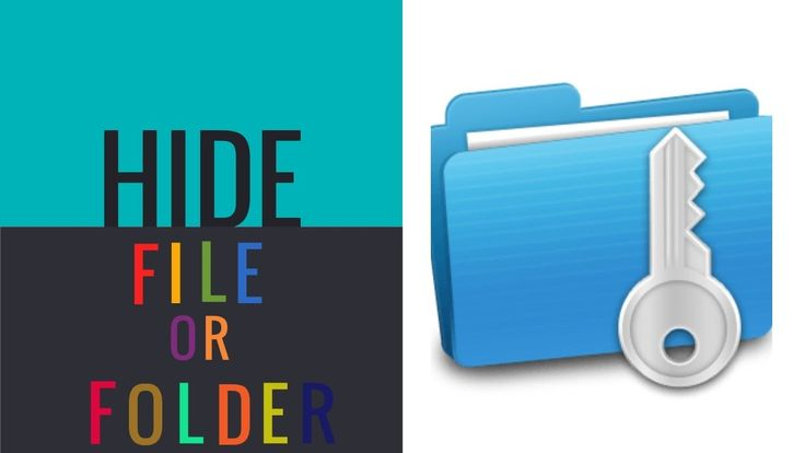 How to hide folder or file