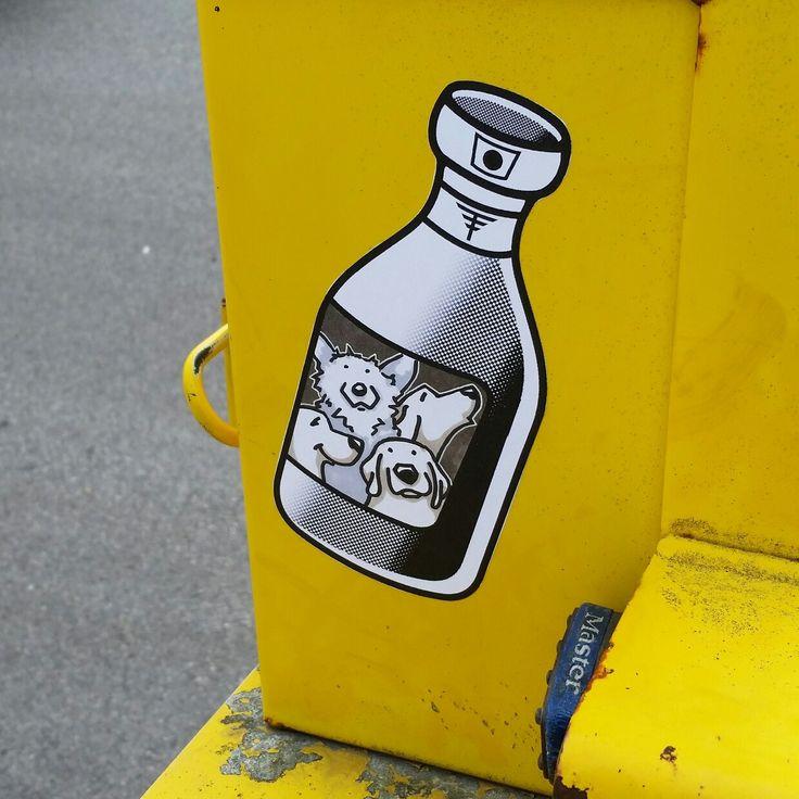 Tokyo tag team sticker. Street art graffiti stickers.