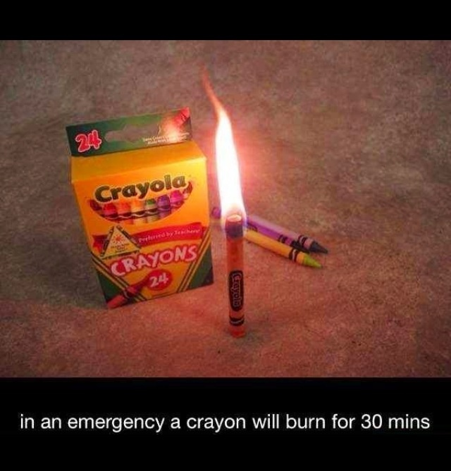 Who knew? crayon candle emergency