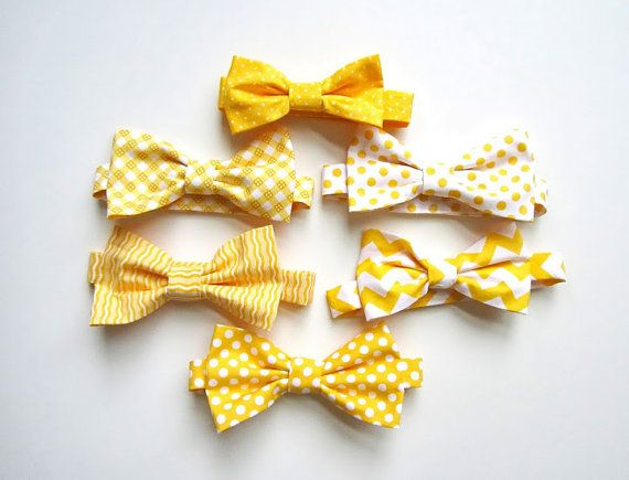 Mens Bow Ties Mix and Match Yellow by LoveCrushDresses on Etsy, $25.00