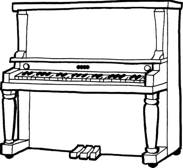 Disegno Pianoforte Da Colorare.Pianoforte Da Colorare Strumenti Musicali Lezioni Di Musica