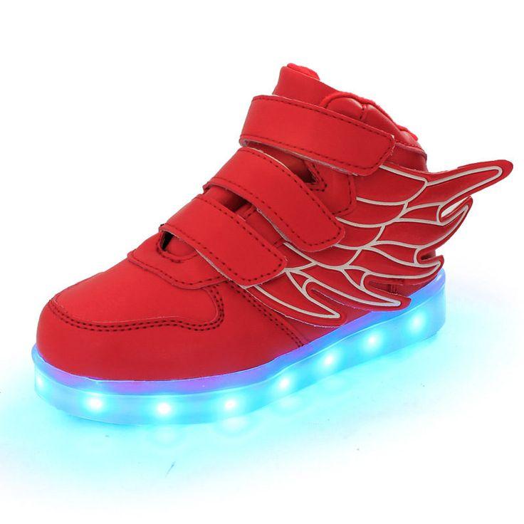 led shoes, kid shoes, light