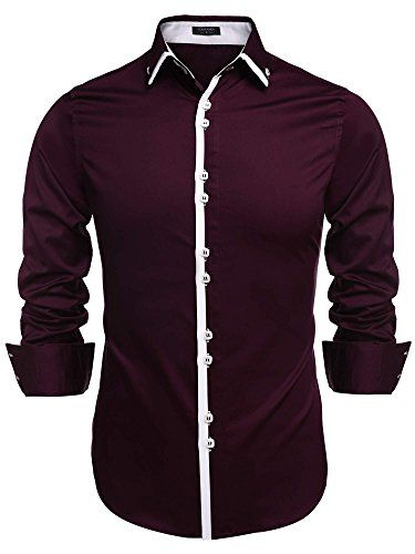 Coofandy Men's Contrast Color Button Down Dress Shirts Ca... http://www.amazon.com/dp/B019DYE95U/ref=cm_sw_r_pi_dp_cdhixb083QQVD