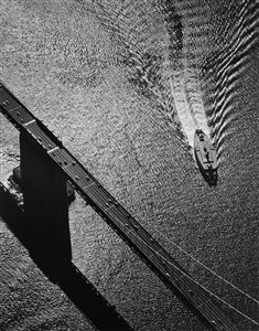 Ansel Adams - Bay Bridge and Ferry (Straight Photography) Relates to Truth as it portrays a truthful representation that could not be achieved if painted