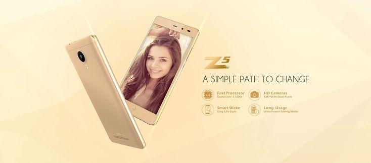 Leagoo Z5 5,0 hüvelykes Android 6.0 3G okostelefon MTK6580 négymagos 1,3 GHz-es 1GB RAM 8GB ROM Kettős kamerák Bluetooth 4.1 kamerák GPS