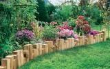 Beetbegrenzung aus Holz