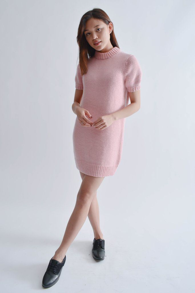 2cc74c9f254 Michael Kors Collection Pink Short Sleeve Wool Dress Size XS