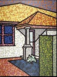 <i>Floriated Residence</i> by Howard Arkley.