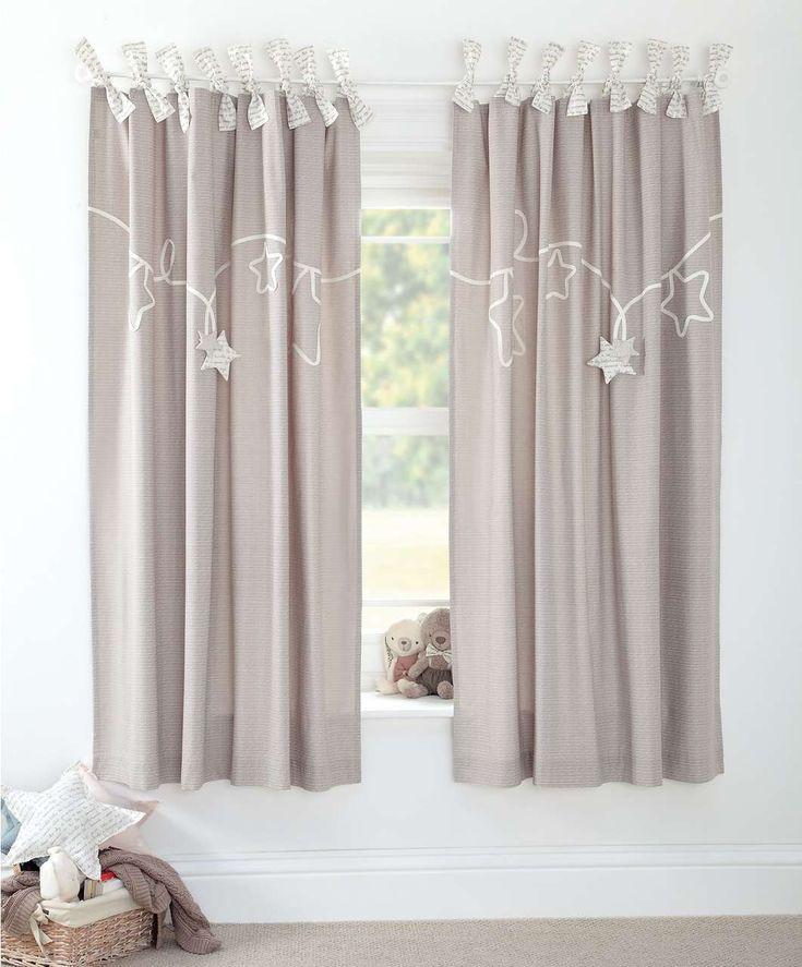 Millie & Boris - Lined Tie Top Curtains - 132 x 160cm - New Arrivals - Mamas & Papas